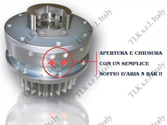 Supporto con pinza a chiusura e apertura pneumatica brevetto TLK
